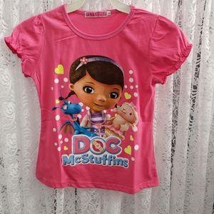 Girls T-shirt - Pink Doc McStuffins